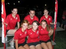 Front: Ellen Kresha, Cassie Rathman, Hannah Fahrlander Back: Megan McKenzie, Sean James, Colleen Jareske