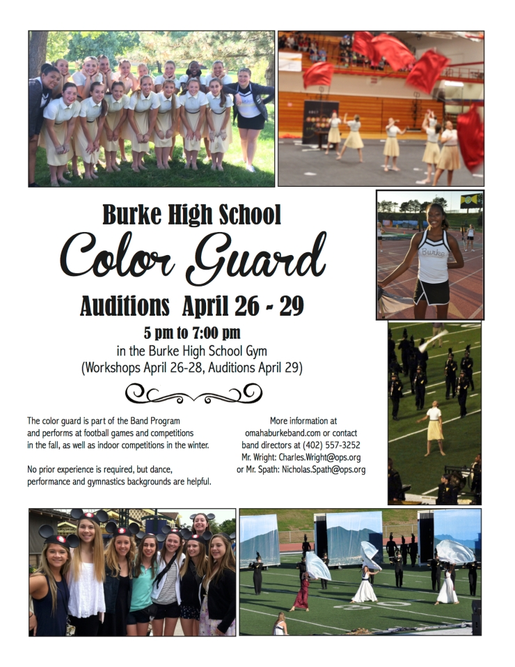 2016 Color Guard Audition Flyer